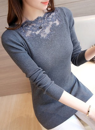Viscose Others Solid Tight Hollow Out Sweaters