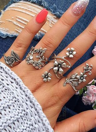 Floral No Stone Rings (1540431)