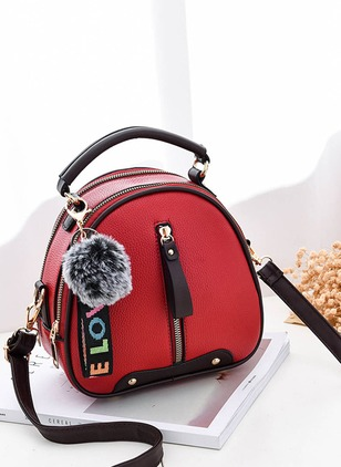 Shoulder PU Zipper Convertible Bags