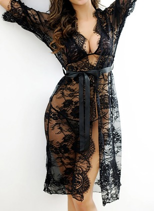 Polyester Lace Sashes Lingerie Sets