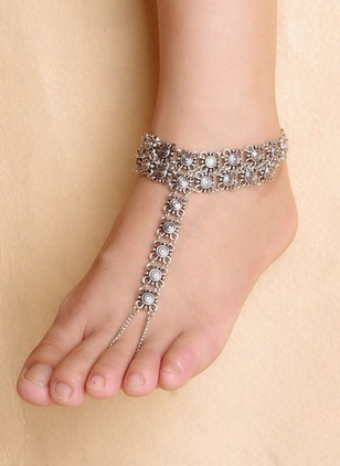 No Stone Floral Round Anklet