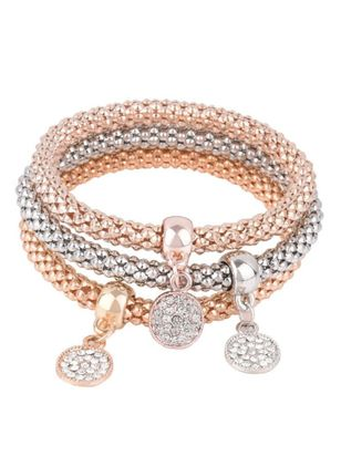 Elegant Round No Stone Bangle Bracelets (4072112)