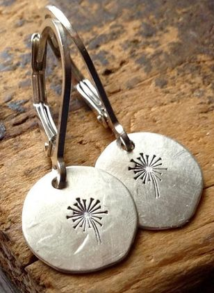 Casual Round No Stone Dangle Earrings (147050154)