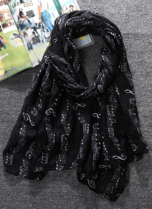 Casual Polyester Geometric Scarves