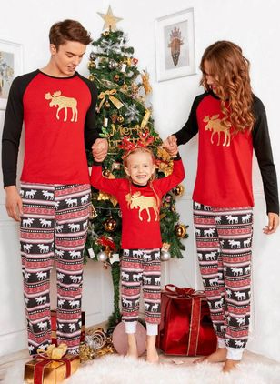 Boys' Christmas Print Daily Long Sleeve Clothing Sets