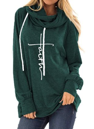 Alfabet Casual Hooded Sweaters (4448376)