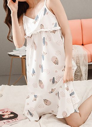 Camisole Neckline Color Block Pajamas
