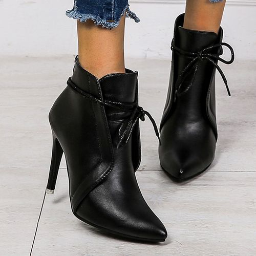Women's Lace-up Ankle Boots Closed Toe