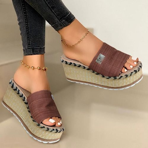Slippers With A Wedge Heel