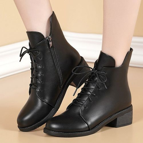 Women's Lace-up Ankle Boots Low Heel