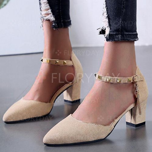Clearance Womens Casual Rivet Buckle Strap Sandals Pointed Toe Low Heels Shoes